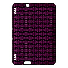 Pink Black Retro Tiki Pattern Kindle Fire Hdx Hardshell Case by BrightVibesDesign