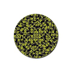Modern Abstract Interlace Rubber Round Coaster (4 Pack)  by dflcprints