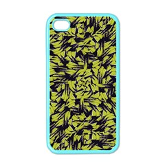 Modern Abstract Interlace Apple Iphone 4 Case (color) by dflcprints
