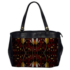 Fantasy Flowers And Leather In A World Of Harmony Office Handbags by pepitasart