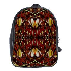 Fantasy Flowers And Leather In A World Of Harmony School Bags (xl)  by pepitasart