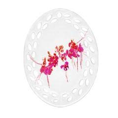 Minimal Floral Print Ornament (oval Filigree)  by dflcprints