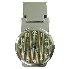 Green Brown Zigzag Money Clip Watches by BrightVibesDesign