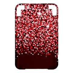 Red Glitter Rain Kindle 3 Keyboard 3G by KirstenStar