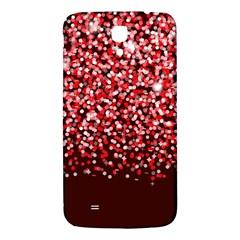 Red Glitter Rain Samsung Galaxy Mega I9200 Hardshell Back Case by KirstenStar