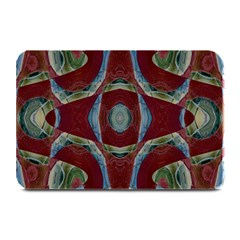 Fancy Maroon Blue Design Plate Mats by BrightVibesDesign