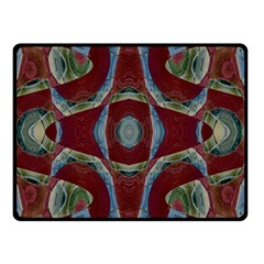 Fancy Maroon Blue Design Double Sided Fleece Blanket (small)  by BrightVibesDesign