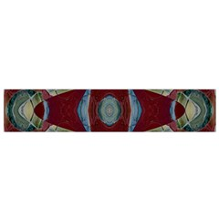 Fancy Maroon Blue Design Flano Scarf (small)  by BrightVibesDesign