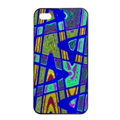 Bright Blue Mod Pop Art  Apple iPhone 4/4s Seamless Case (Black) by BrightVibesDesign