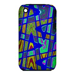 Bright Blue Mod Pop Art  Apple iPhone 3G/3GS Hardshell Case (PC+Silicone) by BrightVibesDesign