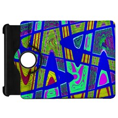 Bright Blue Mod Pop Art  Kindle Fire Hd Flip 360 Case by BrightVibesDesign
