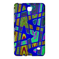 Bright Blue Mod Pop Art  Samsung Galaxy Tab 4 (8 ) Hardshell Case  by BrightVibesDesign