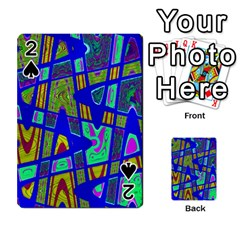 Bright Blue Mod Pop Art  Playing Cards 54 Designs  by BrightVibesDesign