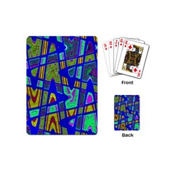 Bright Blue Mod Pop Art  Playing Cards (mini)  by BrightVibesDesign