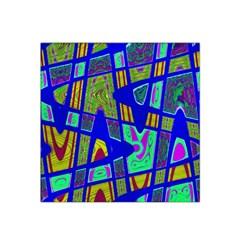 Bright Blue Mod Pop Art  Satin Bandana Scarf by BrightVibesDesign