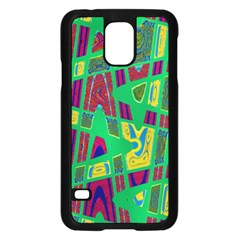 Bright Green Mod Pop Art Samsung Galaxy S5 Case (black) by BrightVibesDesign