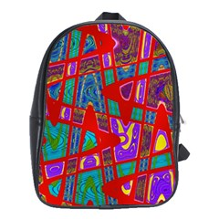 Bright Red Mod Pop Art School Bags(large)  by BrightVibesDesign