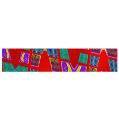 Bright Red Mod Pop Art Flano Scarf (small) by BrightVibesDesign