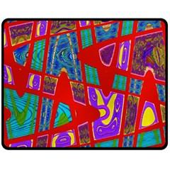 Bright Red Mod Pop Art Fleece Blanket (medium)  by BrightVibesDesign