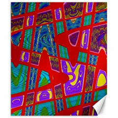 Bright Red Mod Pop Art Canvas 20  X 24   by BrightVibesDesign