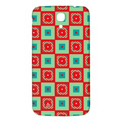 Blue Red Squares Pattern                                			samsung Galaxy Mega I9200 Hardshell Back Case by LalyLauraFLM