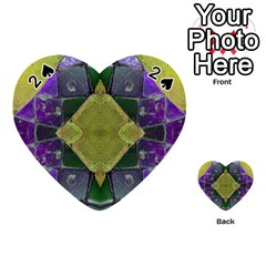 Purple Yellow Stone Abstract Playing Cards 54 (Heart)  by BrightVibesDesign