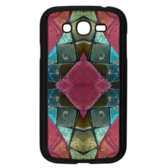 Pink Turquoise Stone Abstract Samsung Galaxy Grand Duos I9082 Case (black) by BrightVibesDesign