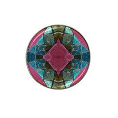 Pink Turquoise Stone Abstract Hat Clip Ball Marker (10 Pack) by BrightVibesDesign