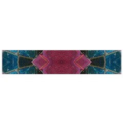 Pink Turquoise Stone Abstract Flano Scarf (small)  by BrightVibesDesign