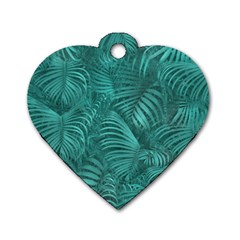 Tropical Hawaiian Pattern Dog Tag Heart (one Side) by dflcprints