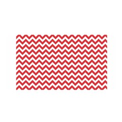 Poppy Red & White Zigzag Pattern Satin Wrap by Zandiepants