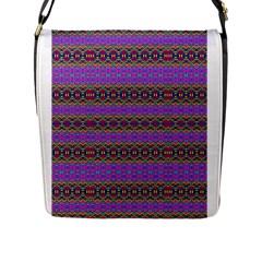 Dance Hall Flap Messenger Bag (l)  by MRTACPANS