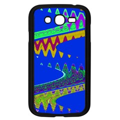 Colorful Wave Blue Abstract Samsung Galaxy Grand Duos I9082 Case (black) by BrightVibesDesign