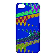 Colorful Wave Blue Abstract Apple Iphone 5c Hardshell Case by BrightVibesDesign