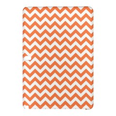 Tangerine Orange & White ZigZag pattern Samsung Galaxy Tab Pro 12.2 Hardshell Case by Zandiepants
