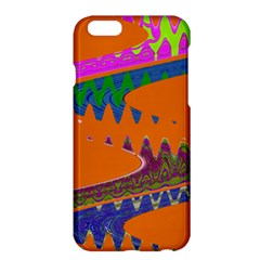 Colorful Wave Orange Abstract Apple iPhone 6 Plus/6S Plus Hardshell Case by BrightVibesDesign