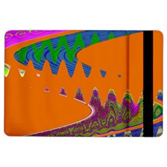 Colorful Wave Orange Abstract iPad Air 2 Flip by BrightVibesDesign