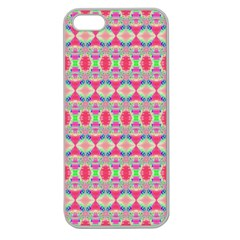 Pretty Pink Shapes Pattern Apple Seamless Iphone 5 Case (clear) by BrightVibesDesign