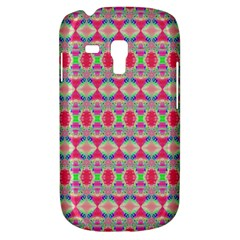 Pretty Pink Shapes Pattern Samsung Galaxy S3 MINI I8190 Hardshell Case by BrightVibesDesign