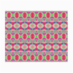 Pretty Pink Shapes Pattern Small Glasses Cloth by BrightVibesDesign