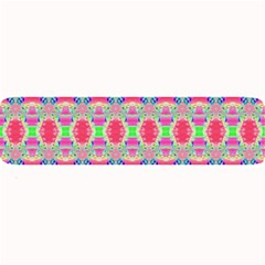 Pretty Pink Shapes Pattern Large Bar Mats by BrightVibesDesign