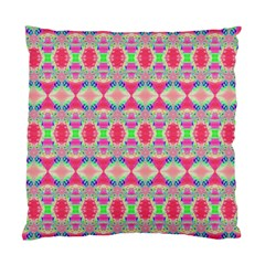 Pretty Pink Shapes Pattern Standard Cushion Case (One Side) by BrightVibesDesign