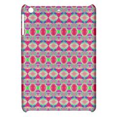 Pretty Pink Shapes Pattern Apple Ipad Mini Hardshell Case by BrightVibesDesign