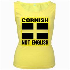 Cornish Not English By Ignatius Rake Women s Yellow Tank Top by RakeClag