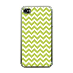 Spring Green & White Zigzag Pattern One Piece Boyleg Swimsuit Apple Iphone 4 Case (clear) by Zandiepants