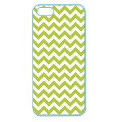 Spring Green & White Zigzag Pattern One Piece Boyleg Swimsuit Apple Seamless iPhone 5 Case (Color) by Zandiepants