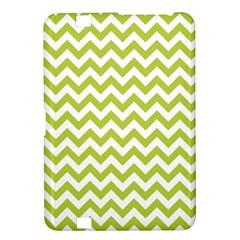 Spring Green & White Zigzag Pattern One Piece Boyleg Swimsuit Kindle Fire Hd 8 9  Hardshell Case by Zandiepants
