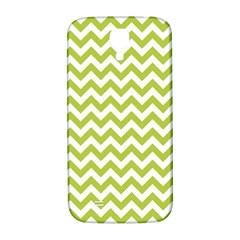Spring Green & White Zigzag Pattern One Piece Boyleg Swimsuit Samsung Galaxy S4 I9500/i9505  Hardshell Back Case by Zandiepants