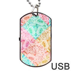 A Rose Is A Rose Dog Tag USB Flash (One Side) by hennigdesign