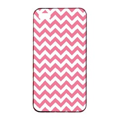 Soft Pink & White Zigzag Pattern Apple Iphone 4/4s Seamless Case (black) by Zandiepants